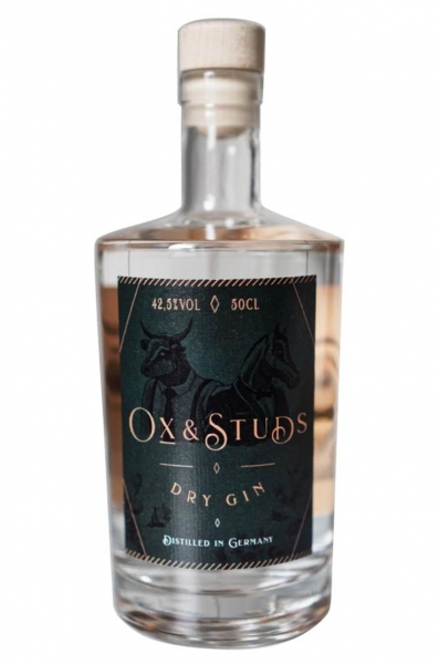 Ox & Studs Dry Gin 0,5l 42,5%Vol Ginstitution